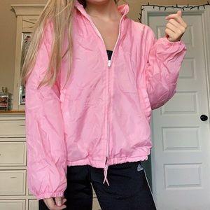 Baby Pink Vintage Windbreaker Jacket